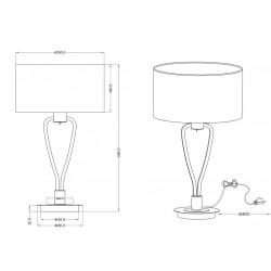 Lampe à poser en métal abat-jour tissu - PARIS II