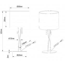Dimension lampe à poser Nandor