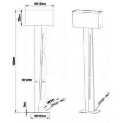 Lampadaire moderne double éclairage - NESTOR