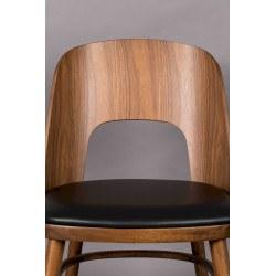 Lot 2 chaises vintages en bois assise mousse Dutchbone - TALIKA