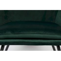 Fauteuil de salon en velours Boite à design - BON