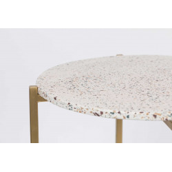 Table d'appoint en terrazzo Boite à design - MARIO