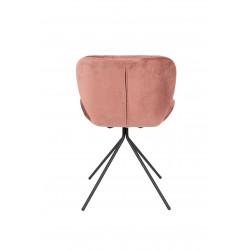 Chaise en velours rose OMG Zuiver
