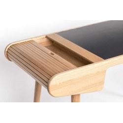 Bureau scandinave en bois avec tiroir sur rail BARBIER - Zuiver