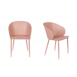 Lot 2 chaises coques roses Gigi