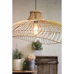 Suspension chapeau en rotin naturel CATALINA par Redcartel