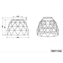 Plafonnier design géométrique Haval - Trio