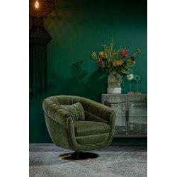 Fauteuil vert pivotant Member style britanique - Dutchbone