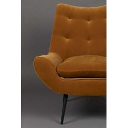 Fauteuil de salon vintage en tissu GLODIS - Dutchbone