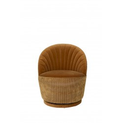 Fauteuil vintage whiskey