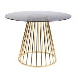 Table vintage en verre et métal Floris