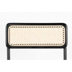 Chaise rétro perforée vintage Jort en hêtre et rotin naturel - Zuiver