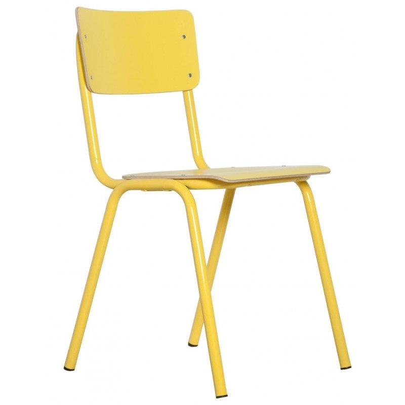 4 Chaises école BACK TO SCHOOL HPL par Zuiver