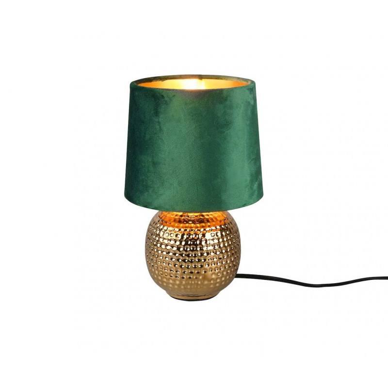 Lampe à poser Sophia verte et or
