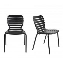 Lot deux chaises vondel noir