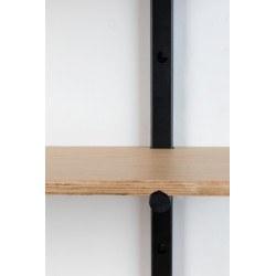 Étagère murale modulable BUNDY en bois et métal look industriel - Zuiver