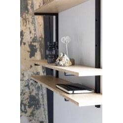 Étagère murale BUNDY en bois et métal look industriel - Zuiver