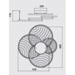 Plafonnier ou applique design COLLAGE 4 - Mantra