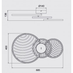 Plafonnier ou applique design COLLAGE 3 - Mantra