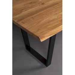 Table à manger AKA en bois et métal - Dutchbone