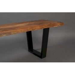 Banc industriel AKA en bois et métal - Dutchbone
