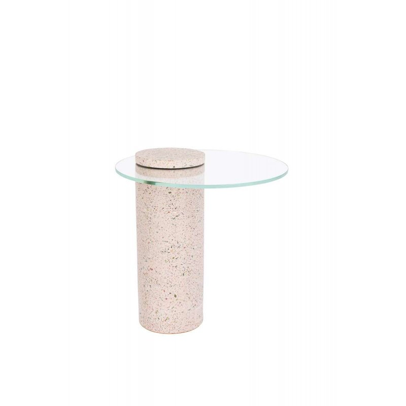 Table d'appoint ROSALINA en terrazzo rose - Zuiver