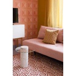 Table d'appoint ROSALINA en terrazzo blanc - Zuiver