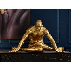 Grande statue homme yoga or - Schuller
