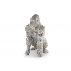 Grande statue Gorille couleur argent - Schuller