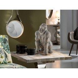 Statue de gorille argent en polyrésine - Schuller