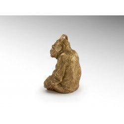 Statue orang outang casque musique couleur or - Schuller