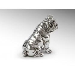 Statue bulldog argenté 44 cm - Schuller