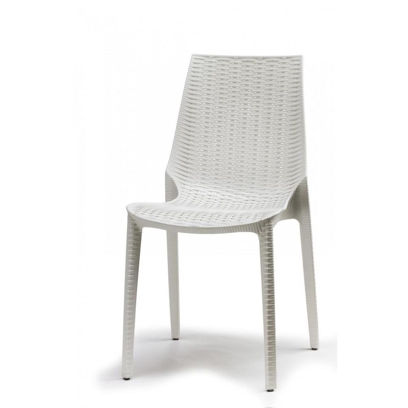 Chaise tissée imitation rotin Lucrezia Scab design