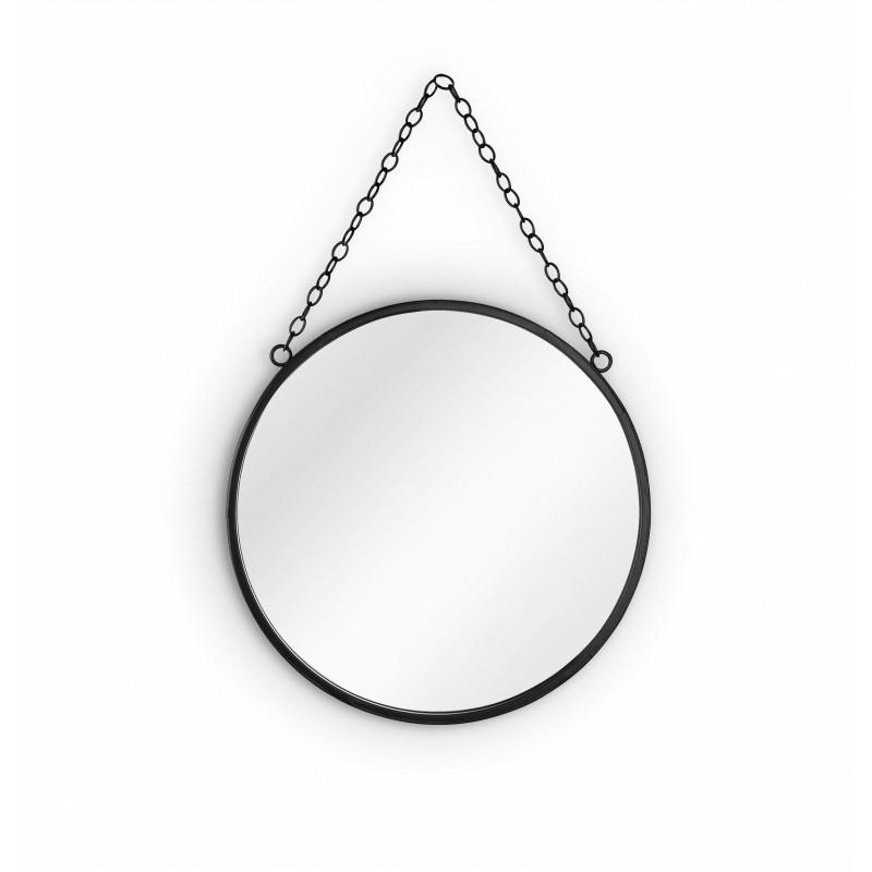 Miroir rond à chaîne Sabine
