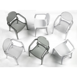 Chaise design avec accoudoirs - IGLOO - MODELE D'EXPOSITION
