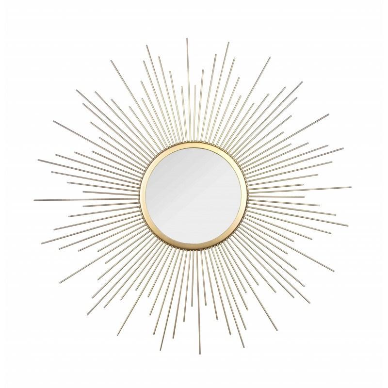 miroir soleil or et métal