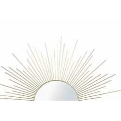 Miroir rond 60 cm métal et or Sunny