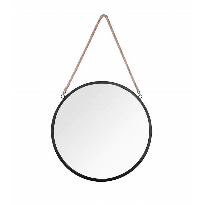 Miroir rond avec cordelette