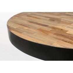 Table de bistrot ronde en bois et métal - Maze - Boite à design