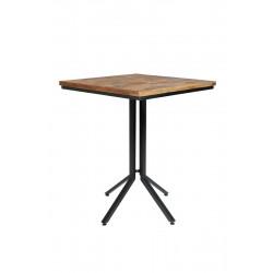 Table de bar bistrot carrée en bois et métal - Maze - Boite à design