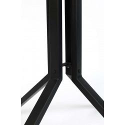 Table de bar bistrot carrée en bois et métal H93 cm - Maze - Boite à design