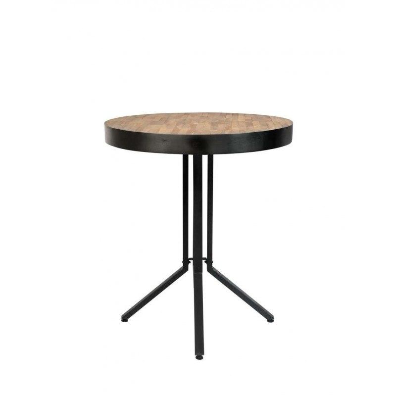 Table de bar bistrot ronde en bois et métal H93 cm - Maze - Boite à design