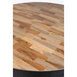 Table de bar bistrot ronde H110 cm en bois et métal - Maze - Boite à design