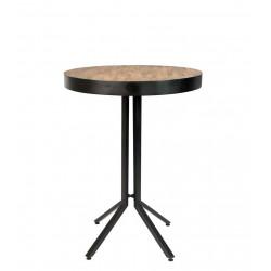 Table de bar bistrot ronde en bois et métal H110cm - Maze - Boite à design