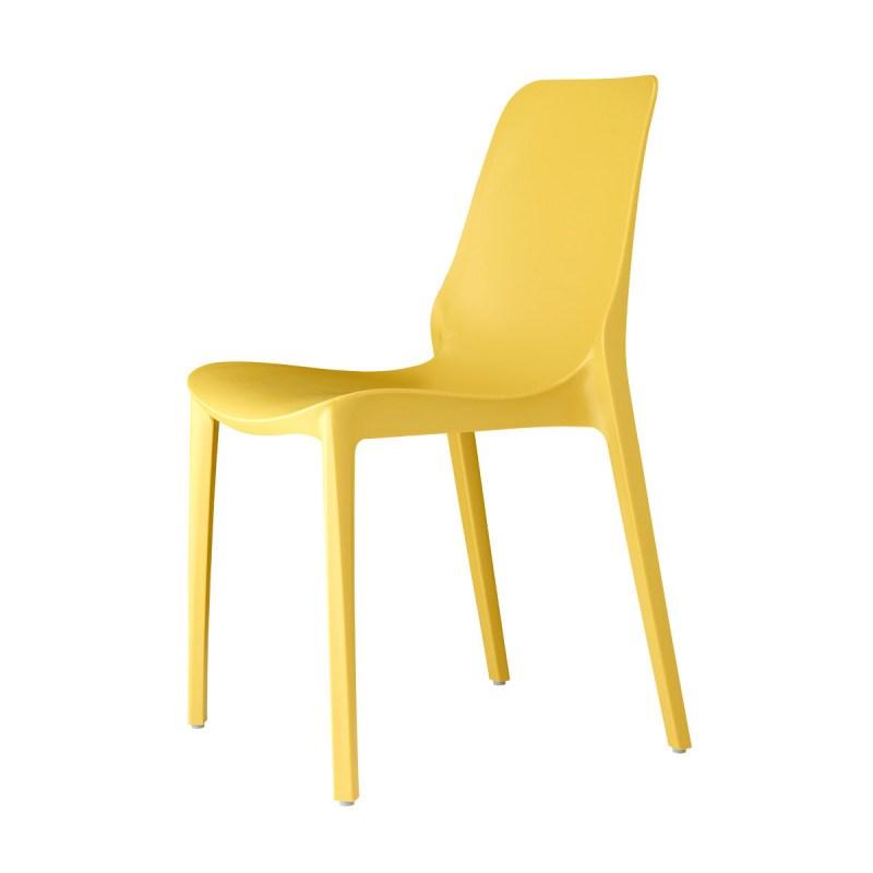Chaise design jaune Ginevra en polypropylène - lot de 2 - Scab design