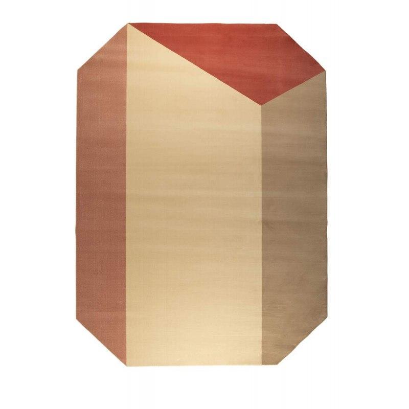 Tapis décoratif octogonal HARMONY rouge 200X290 - Zuiver