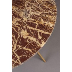 Table basse ronde en mabre MARAL - Dutchbone