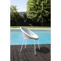 4 Chaises design pieds blancs BONBON par Scab design