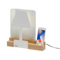 Lampe de table LUXI Led tactile à intensité variable et port USB - Aluminor