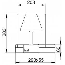 Lampe de table tactile LUXI Led intégrée à intensité variable et port USB - Aluminor